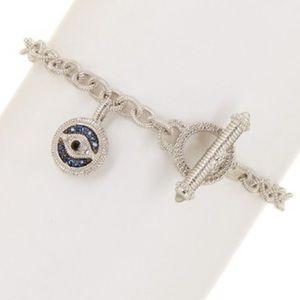 Judith Ripka Sapphire Evil Eye Bracelet